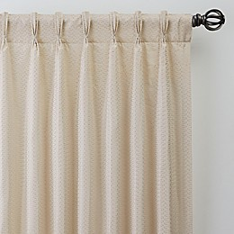 Bargello Pinch Pleat Room Darkening Window Curtain Panel