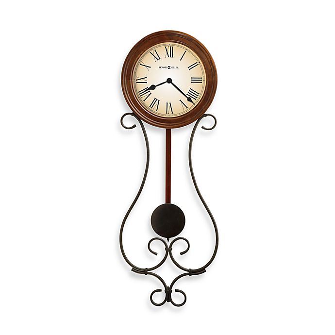 Alternate image 1 for Howard Miller Kersen 22.5-Inch Pendulum Wall Clock