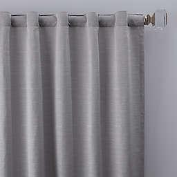 Basel 84-Inch Rod Pocket/Back Tab Window Curtain Panel in Platinum (Single)
