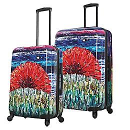 Mia Toro ITALY Sunrise Hardside Spinner Checked Luggage