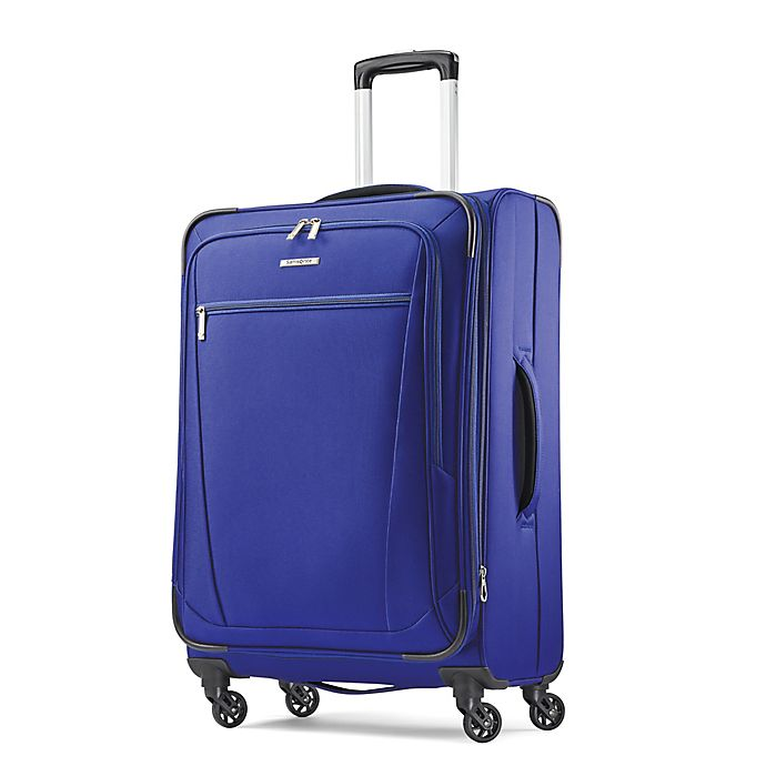 Alternate image 1 for Samsonite® Ascella 25-Inch Spinner Checked Luggage in Cobalt Blue
