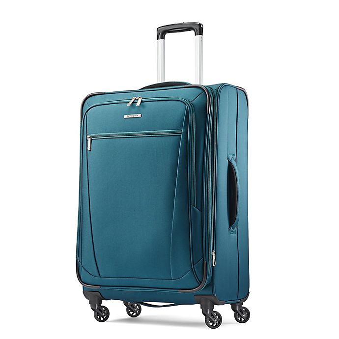 Alternate image 1 for Samsonite® Ascella 25-Inch Spinner Checked Luggage in Teal