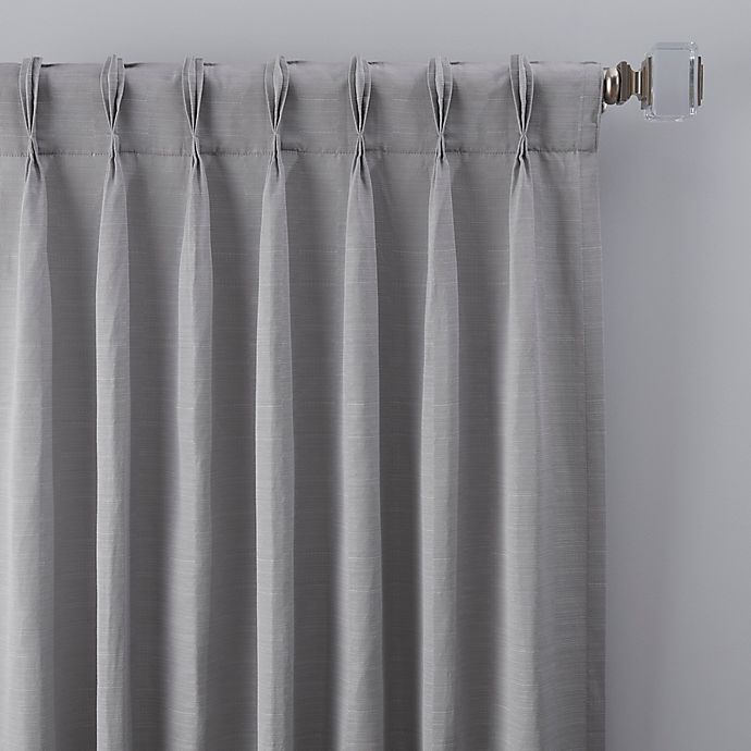 Alternate image 1 for Basel 108-Inch Pinch Pleat Window Curtain Panel in Platinum