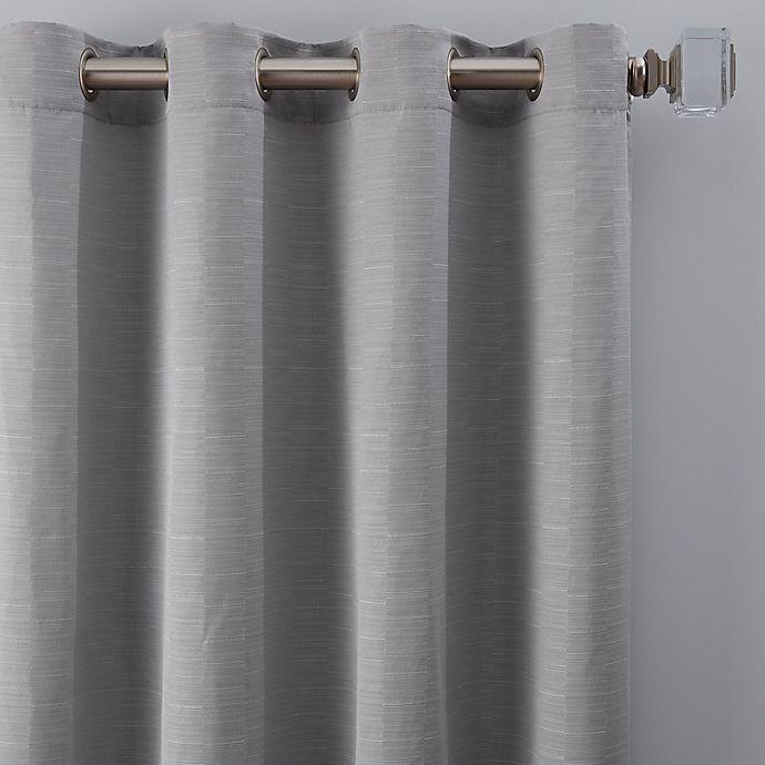 Alternate image 1 for Basel 84-Inch Grommet Window Curtain Panel in Platinum