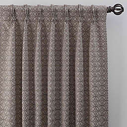 Boratta Geo 95-Inch Pinch Pleat Window Curtain Panel in Mocha