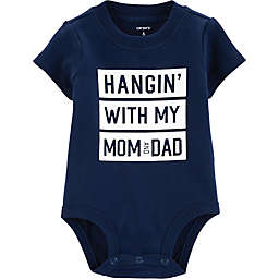 carter's® Hanging With Mom & Dad Bodysuit in Navy
