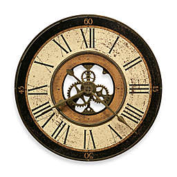 Howard Miller Brass Works 32-Inch Gallery Wall Clock