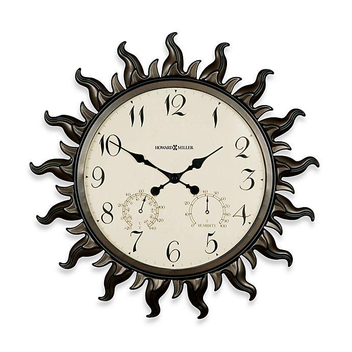 Alternate image 1 for Howard Miller Sunburst Indoor/Outdoor Clock