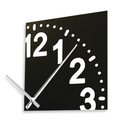 Cupecoy Design Infinity Wooden Clock With Chrome Hands