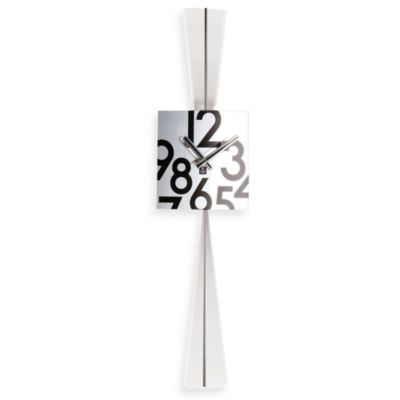 Cupecoy Design Stainless Steel Square Pendulum Wall Clock