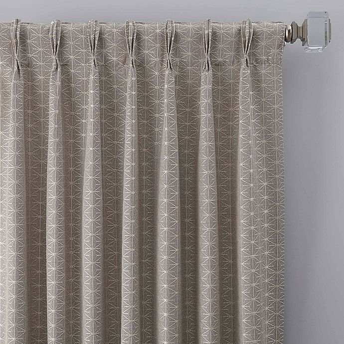 Alternate image 1 for Cascade 108-Inch Pinch Pleat Window Curtain Panel in Silver