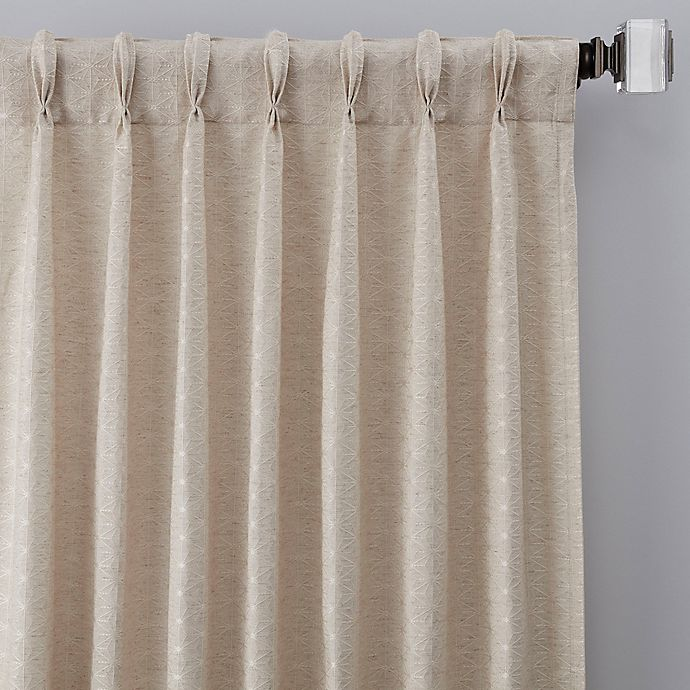 Alternate image 1 for Cascade 108-Inch Pinch Pleat Window Curtain Panel in Linen