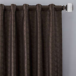 Dimensions 63-Inch Rod Pocket/Back Tab Window Curtain Panel in Bronze