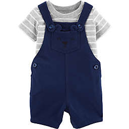 carter's® 2-Piece Bear Shirt and Short Coverall Set in Navy