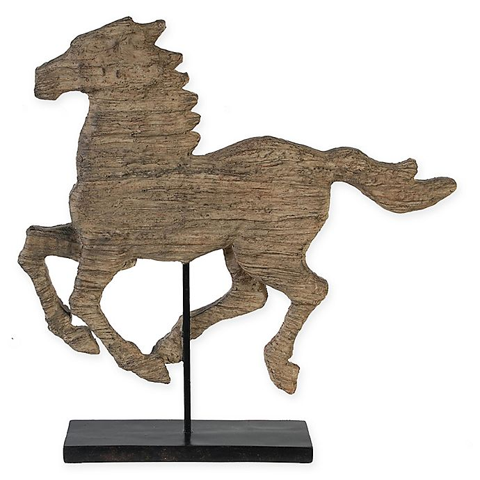 Alternate image 1 for A&B Home Defiance Large Polyresin Spirited Horse Figurine