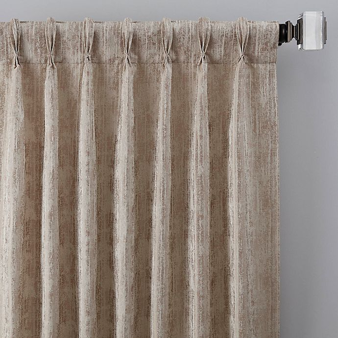 Alternate image 1 for Drift 108-Inch Pinch Pleat Window Curtain Panel in Natural