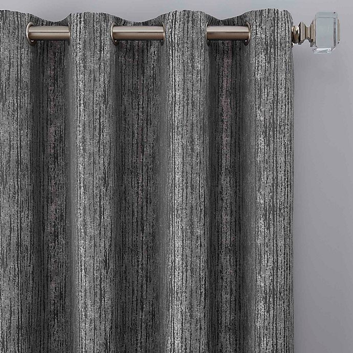 Alternate image 1 for Drift 84-Inch Grommet Window Curtain Panel in Pewter