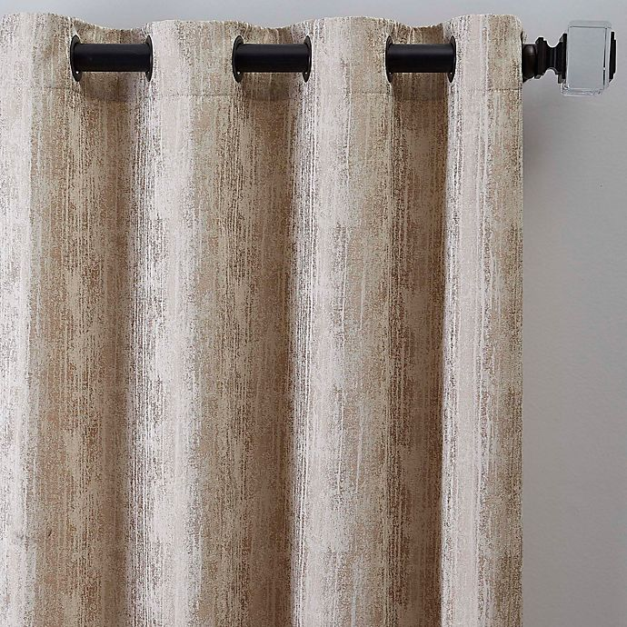 Alternate image 1 for Drift 95-Inch Grommet Window Curtain Panel in Natural