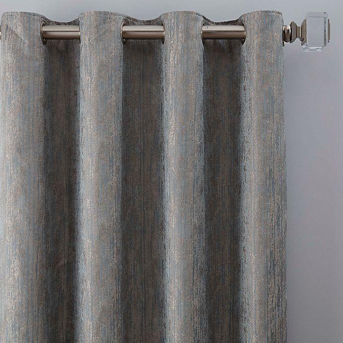 Alternate image 1 for Drift 84-Inch Grommet Window Curtain Panel in Misty Blue