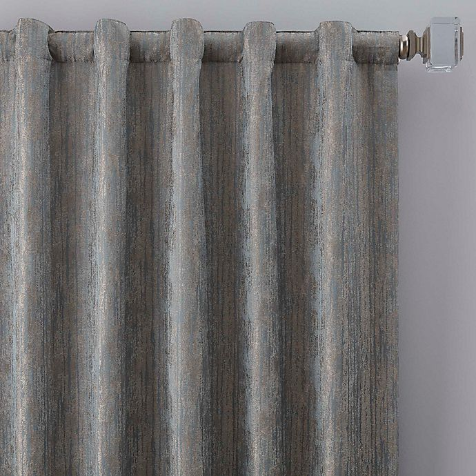 Alternate image 1 for Drift 95-Inch Rod Pocket/Back Tab Window Curtain Panel in Misty Blue