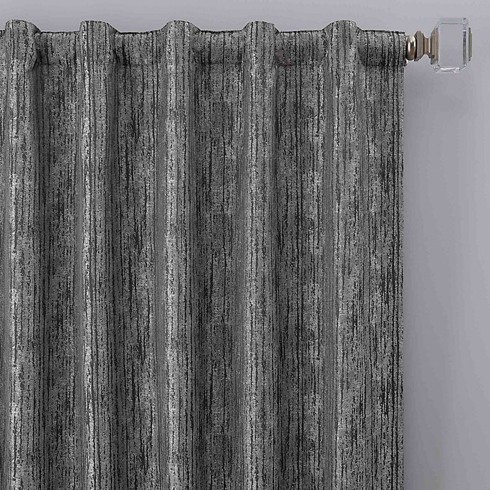 Alternate image 1 for Drift 84-Inch Rod Pocket/Back Tab Window Curtain Panel in Pewter