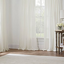Esteem Sheer Linen Window Curtain Panel Collection