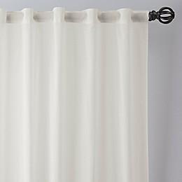 Esteem Sheer Linen Rod Pocket/Back Tab Window Curtain Panel