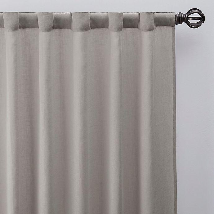 Alternate image 1 for Esteem 63-Inch Rod Pocket/Back Tab Sheer Linen Window Curtain Panel in Flax
