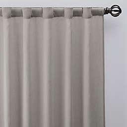 Esteem 84-Inch Rod Pocket/Back Tab Sheer Linen Window Curtain Panel in Flax (Single)