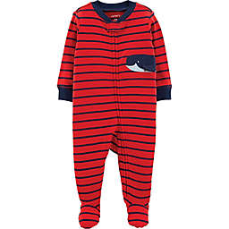 carter's® Preemie Stripe Whale Footie in Red