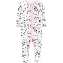 carter's® Animals Footie in White/Pink