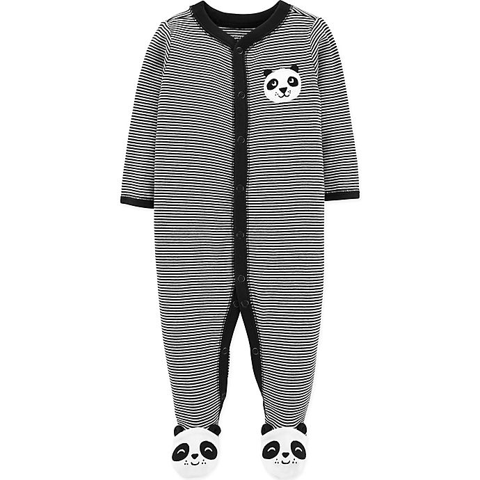 Alternate image 1 for carter's® Panda Footie in Black/White
