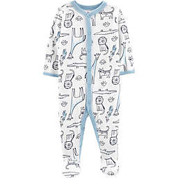 carter's® Safari Animals Footie in Ivory/Blue