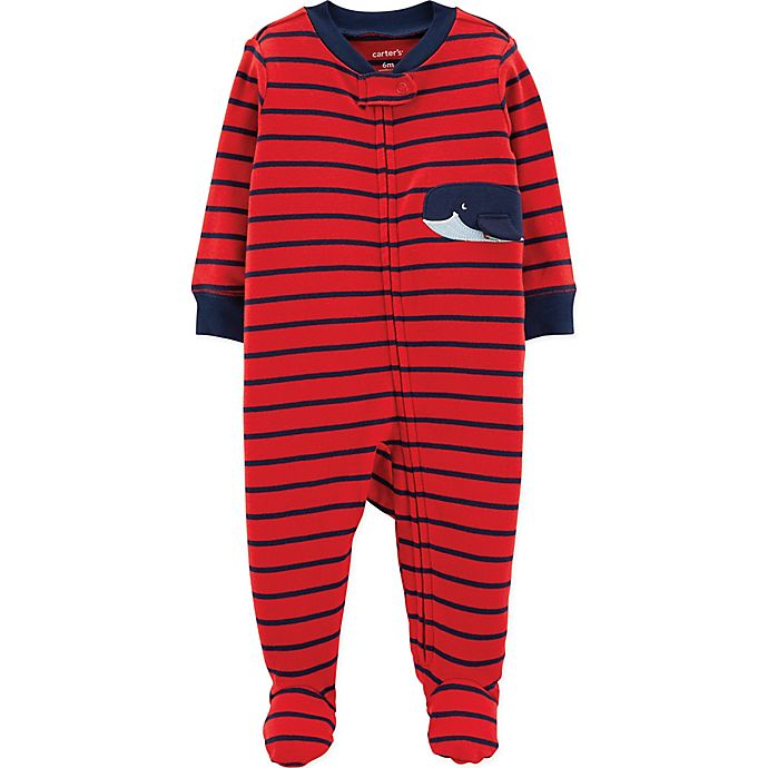 Alternate image 1 for carter's® Size 3M Whale Footie in Red