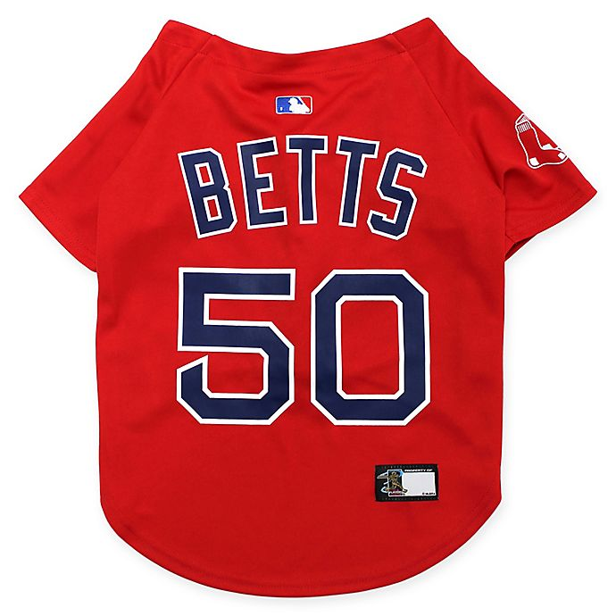 Alternate image 1 for MLB Boston Red Sox Mookie Betts Large Pet Jersey