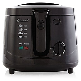 Continental Electric 2.5-Quart Cool Touch Deep Fryer in Black