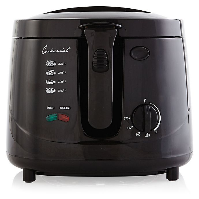 Alternate image 1 for Continental Electric 2.5-Quart Cool Touch Deep Fryer in Black