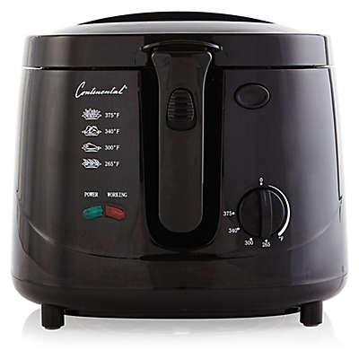 Continental Electrics 2.5 qt. Cool Touch Deep Fryer in Black