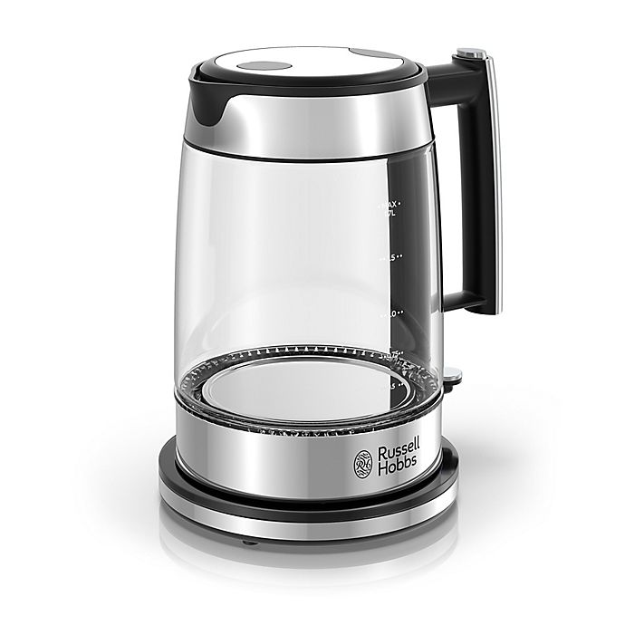 Alternate image 1 for Russell Hobbs 1.7-Liter Glass Electric Kettle in Stainless Steel/Black