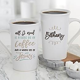 A Little Bit of Coffee & A Lot of Jesus Mug in White