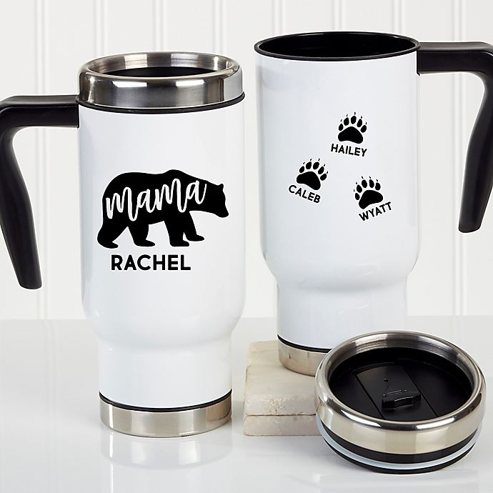 Alternate image 1 for Mama Bear Personalized Commuter Travel Mug