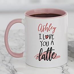 Love You a Latte Personalized Coffee Mug