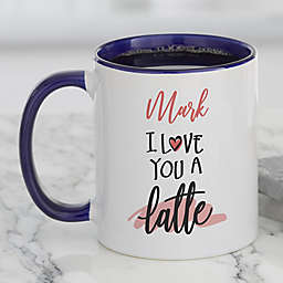 Love You a Latte Personalized 11 oz. Coffee Mug in Blue