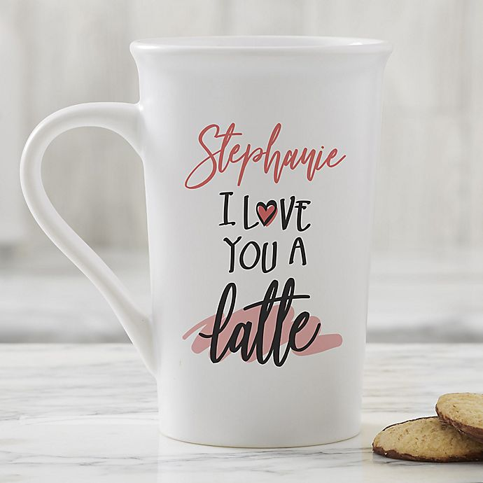 Alternate image 1 for Love You a Latte Personalized Coffee Mug