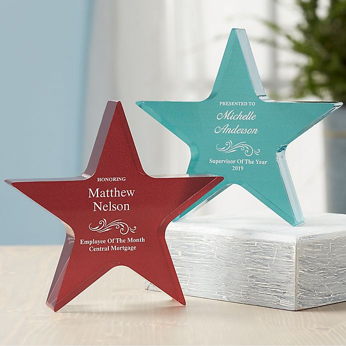 Alternate image 1 for Reflections of Excellence Personalized Colored Star Award