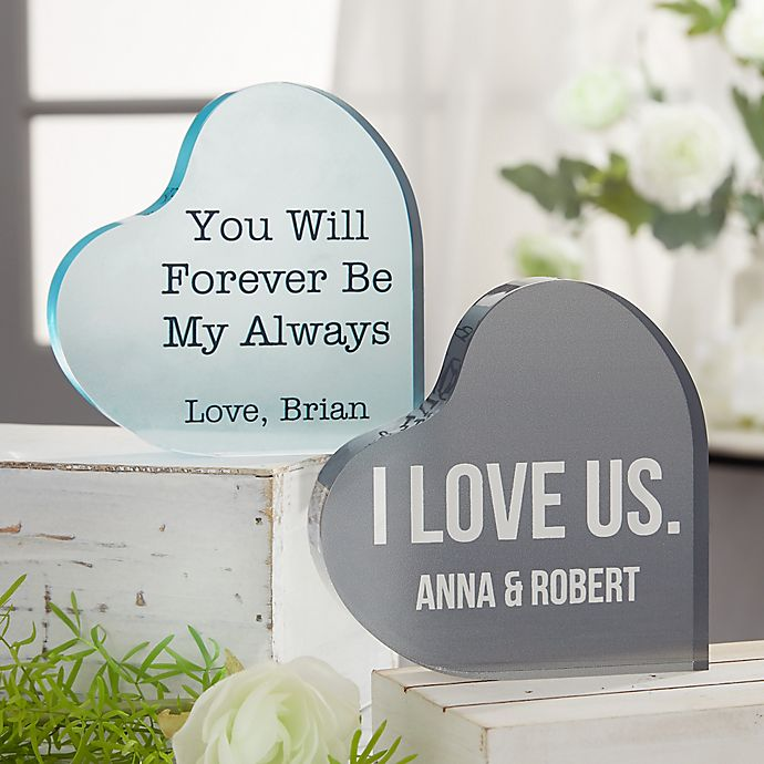 Alternate image 1 for Romantic Expressions Personalized Colored Heart Keepsake