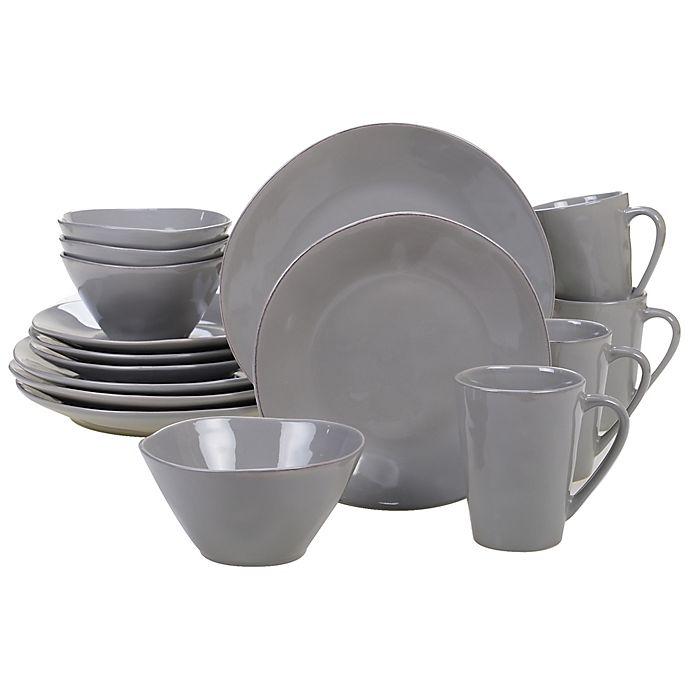 Alternate image 1 for Certified International Harmony 16-Piece Dinnerware Set in Light Grey