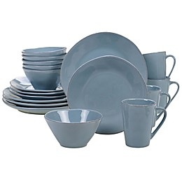 Certified International Harmony 16-Piece Dinnerware Set in Teal