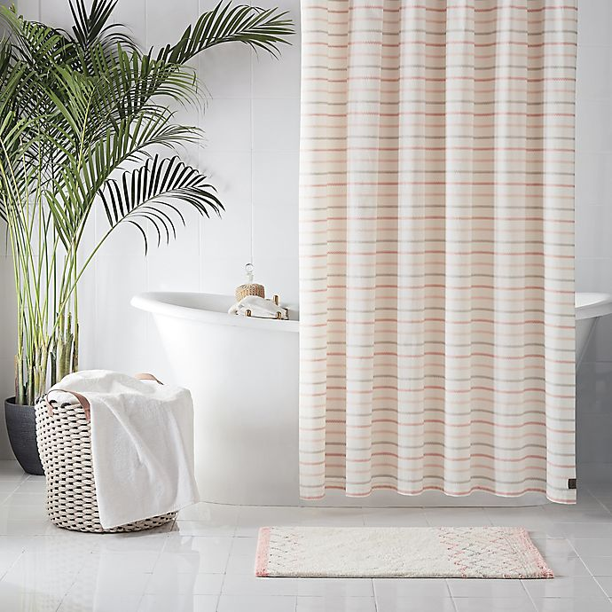 Ugg Lena Striped Shower Curtain In