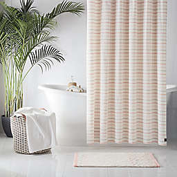 UGG® Lena Striped 72-Inch x 84-Inch Shower Curtain in Pink